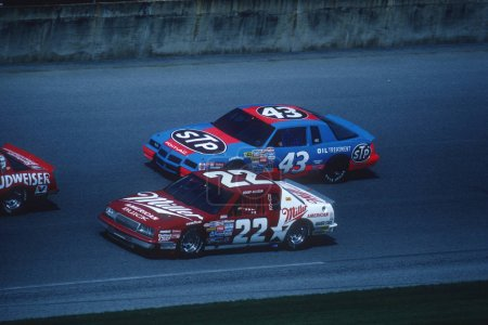 Dale Earnhardt Sr & Darrell Waltrip NASCAR Drivers Racing.