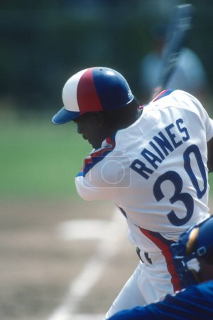 Tim Raines of the Montreal Expos At Bat.