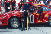 Paul Newman Race Driver Getting Ready To Race