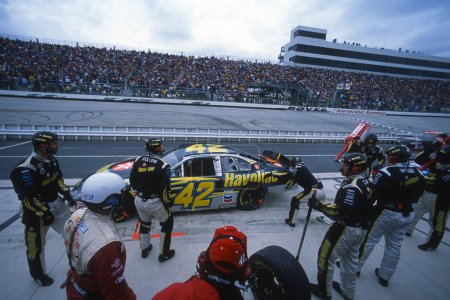 Jamie MalMurry NASCAR Race Car Driver During A Pit Stop.