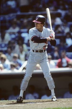Photo pour Brett Butler des Indians de Cleveland. - image libre de droit