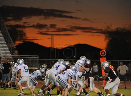 High School Football game action at a local school. Photo was taken in Arizona