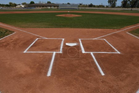 High School Baseball game action being played in East Valley Gilbert Arizona.
