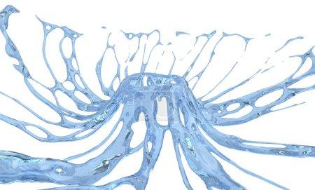 Big water crown splash with high surface tension - extreme closeup shot
