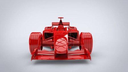 Photo pour Feu et rage rouge - formule voiture de course - image libre de droit