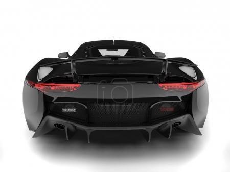 Photo pour Jet noir urbain élégante voiture de sport - vue arrière - image libre de droit