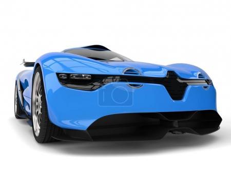 Photo pour Belle riche concept bleu voiture de sport gros plan - image libre de droit