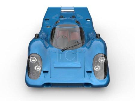 Photo pour Super voiture de course vintage bleu marine brillant vue de dessus - image libre de droit