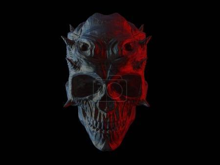 Photo for Dark demon horror skull - Royalty Free Image