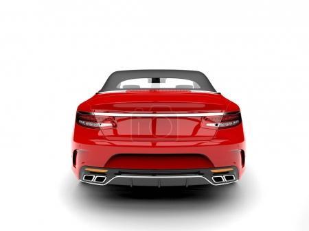 Photo pour Voiture décapotable modernes de luxe rouge belle - vue arrière - image libre de droit
