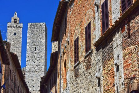Architecture of San Gimignano in Tuscany, Italy