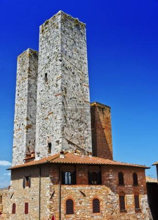 Architecture of San Gimignano in Tuscany, Italy