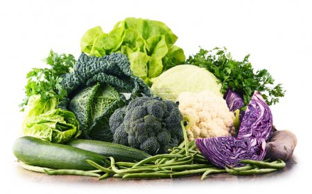 Photo for Composition with raw organic vegetables. Balanced diet - Royalty Free Image