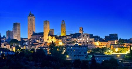 Panoramic view of San Gimignano in Tuscany, Italy