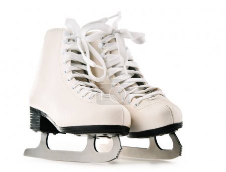 Pair of figure skates isolated on white background