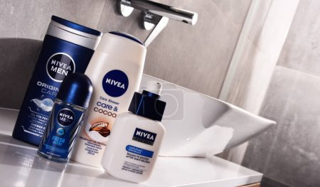 Variety of Nivea products including creme and soap