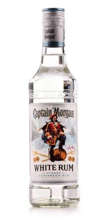 Bottles of Captain Morgan Rum isolated on white