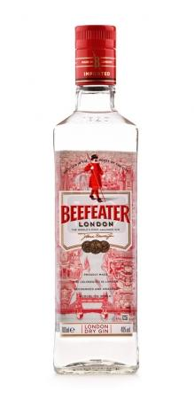 Bottle of Beefeater Gin isolated on white
