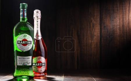 Bottles of Martini, famous Italian vermouth