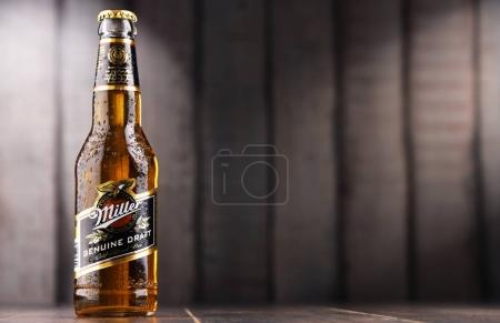Bottle of Miller Genuine Draft beer