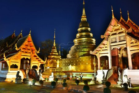 Photo for The ubosot of Wat Phra Singh, a Buddhist temple in Chiang Mai, Thailand - Royalty Free Image
