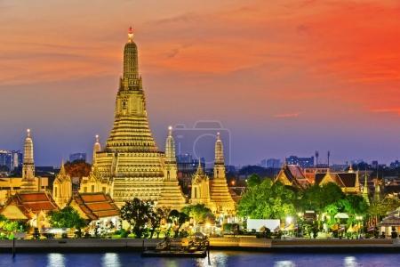 Photo for Wat Arun Ratchawararam, a Buddhist temple in Bangkok, Thailand. - Royalty Free Image