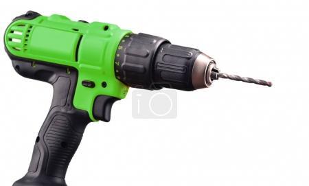 Photo pour Perceuse sans fil avec foret fonctionnant également comme pistolet à vis. - image libre de droit
