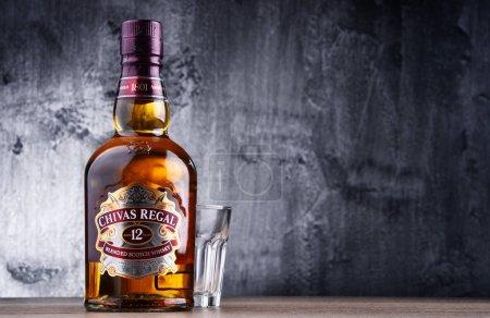 Bottle of Chivas Regal 12 blended Scotch whisky