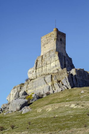 Homenaje tower of Castle Atienza medieval fortress of the twelfth century Spain.