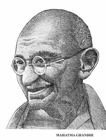 Махатма Ганди изолированные на белом