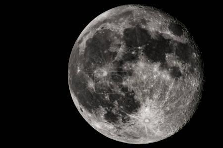 full moon against dark sky