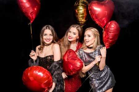 Gorgeous women with balloons