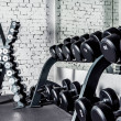 Well-ordered weight training equipment in modern s...