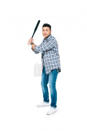african american man with baseball bat