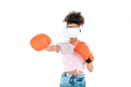 woman boxing in vr headset