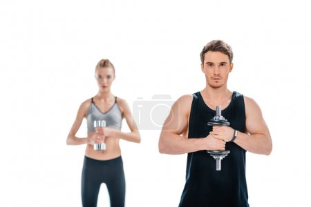 man and woman workingout