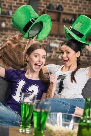 Women celebrating st patricks day
