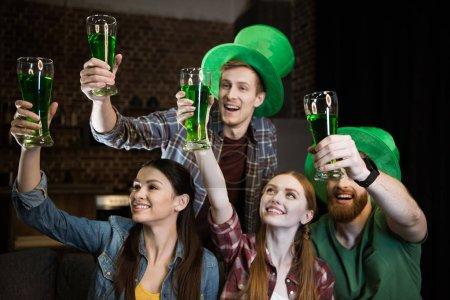 Friends during St. Patrick's day celebration