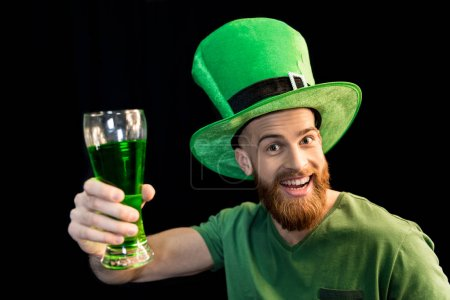 man celebrating St.Patrick's day