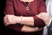 Senior woman with jewelry