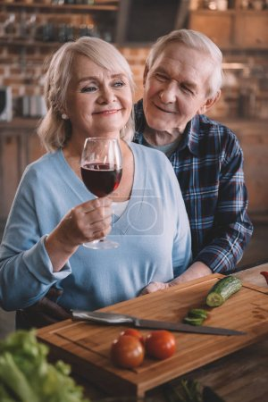 Senior couple in kitchen
