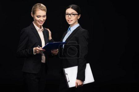 businesswomen connecting during work
