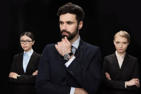 Pensive business people