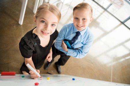 Children in formal clothes
