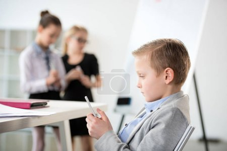 Little boy in formal clothes