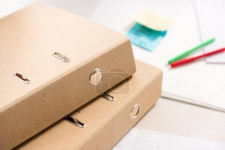 brown paper folders