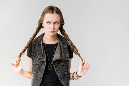 pensive rocker girl