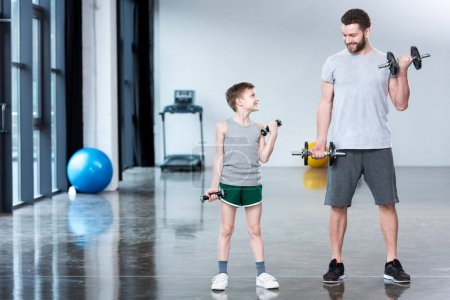Boy training with coach