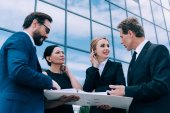 Multiethnic businesspeople having discussion