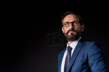 handsome bearded mature businessman